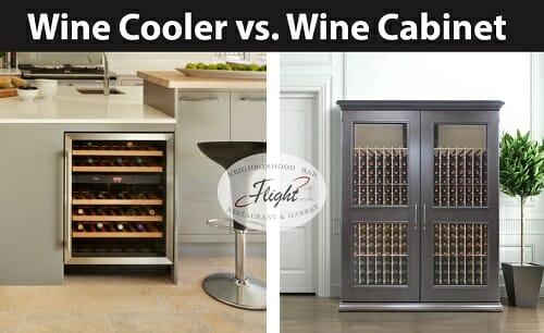 Wine cooler vs Wine cabinet